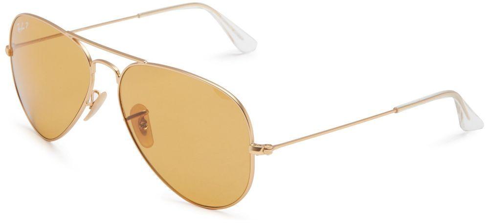 9a3a9cd8cf Ray-Ban 3025 Aviator Large Metal Non-Mirrored Polarized Sunglasses Polar  BrownM (eBay Link)
