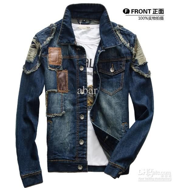 New Mens Jeans Wear Denim Adult Jeans Jacket Denim Jean Jacket ...
