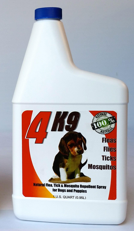 4K9 Neem seed oilbased flea/tick spray for dogs. NON