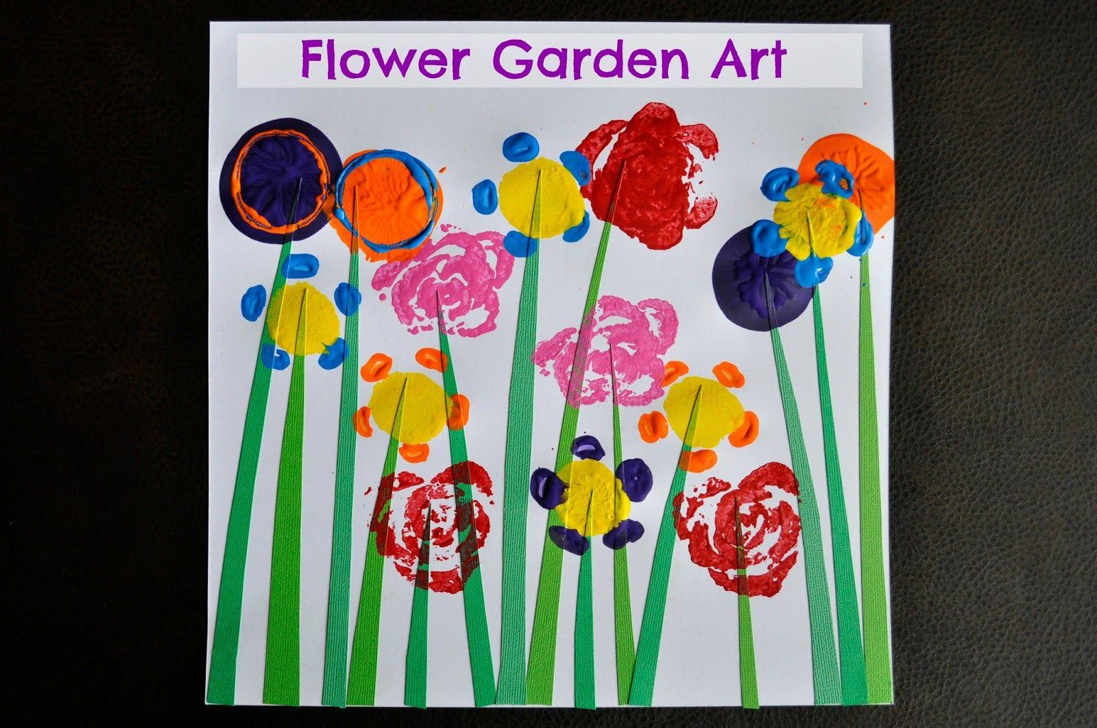 Flower garden art garden art crafts preschool garden