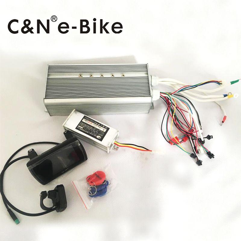 12 V Wyswietlacz Tft Lcd Monitor Kolorowy Z Bezszczotkowy Kontroler Dla 72 V 3000 W 5000 W Elektryczny Row Electric Bike Electric Bike Conversion Vehicle Parts