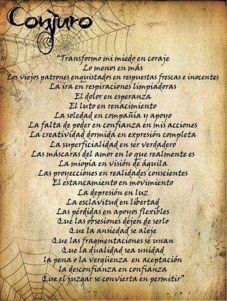 Conjuro amuletos hechizos pinterest witches - Conjuro buena suerte ...