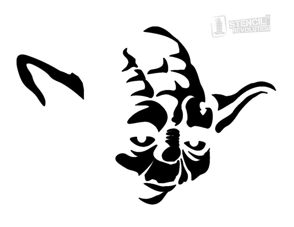 Free printable stencils for painting t shirt stencils designs free - Download Your Free Yoda Face Stencil Here Save Time And Start Your Project In Minutes