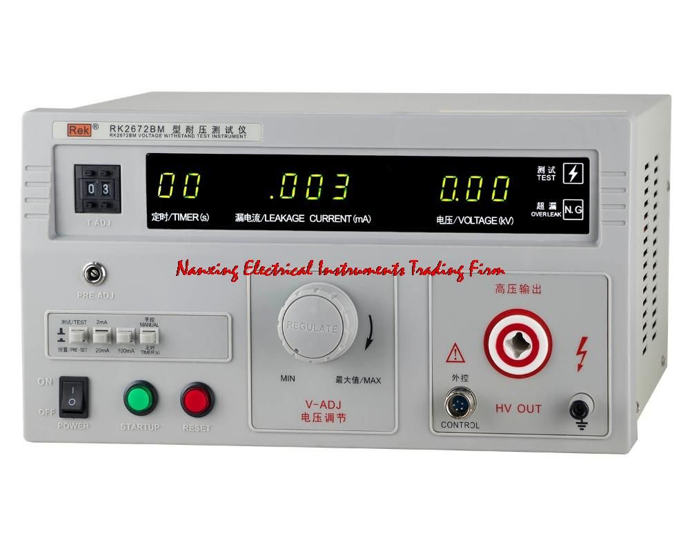 Fast Arrival Rek Rk2672bm High Accuracy Ac 5kv Ac 100ma Withstanding Voltage Tester Pressure Hipot Tester Tester Pressure Accuracy