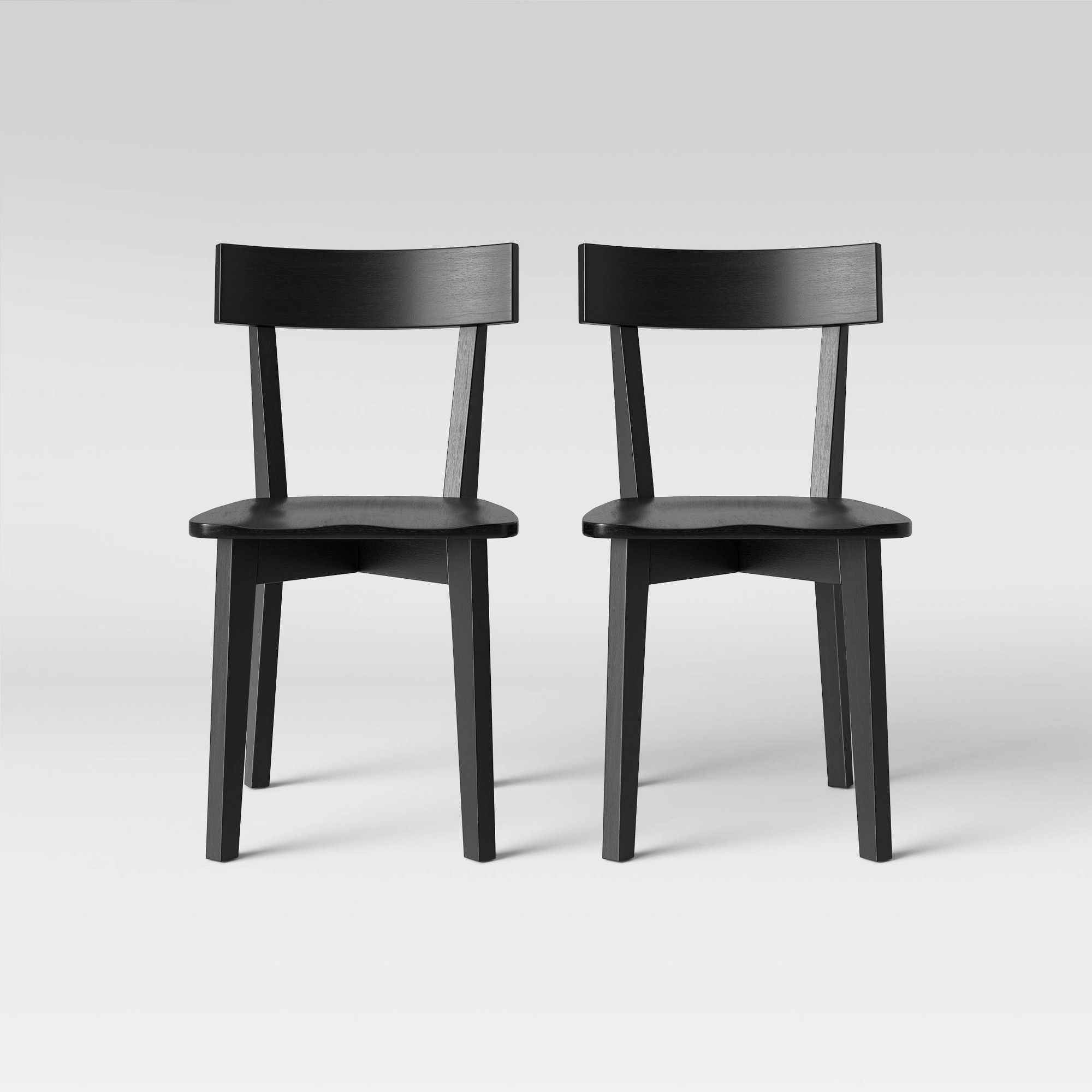 Set Of 2 Bombelli Modern Dining Chair Black Project 62 Modern