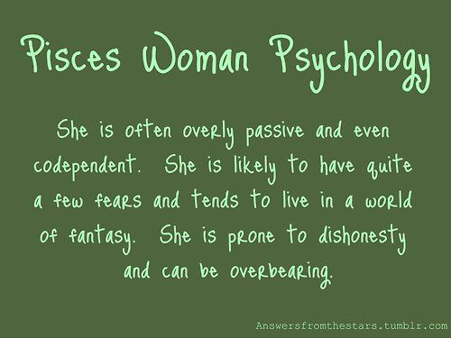 About the pisces woman