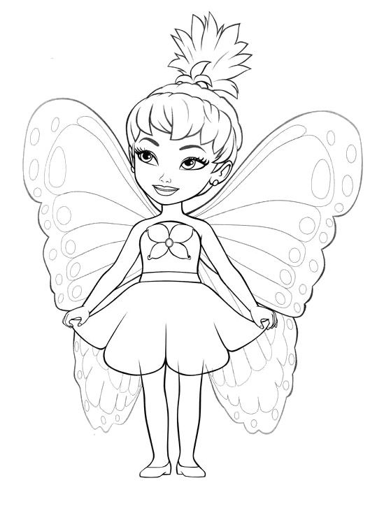 Little Girl Fairy Coloring Pages Disney Princess Coloring Pages