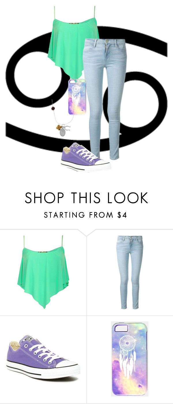 """cancer♋"" by blackfashion123 ❤ liked on Polyvore featuring Frame Denim, Converse and Artisan Crafted"