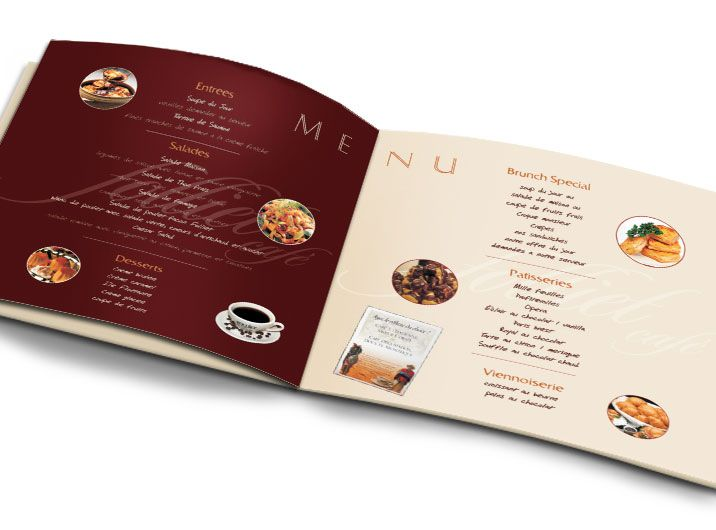 folliet cafe menu with pricing - Restaurant Menu Design Ideas