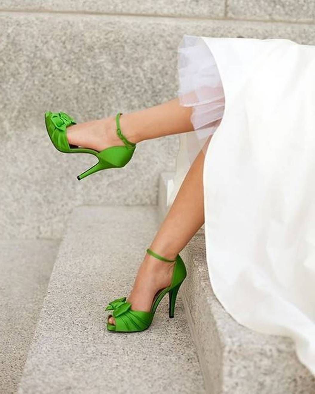 Bethany and Guillermo Green weddings Wedding shoes and Green shoes
