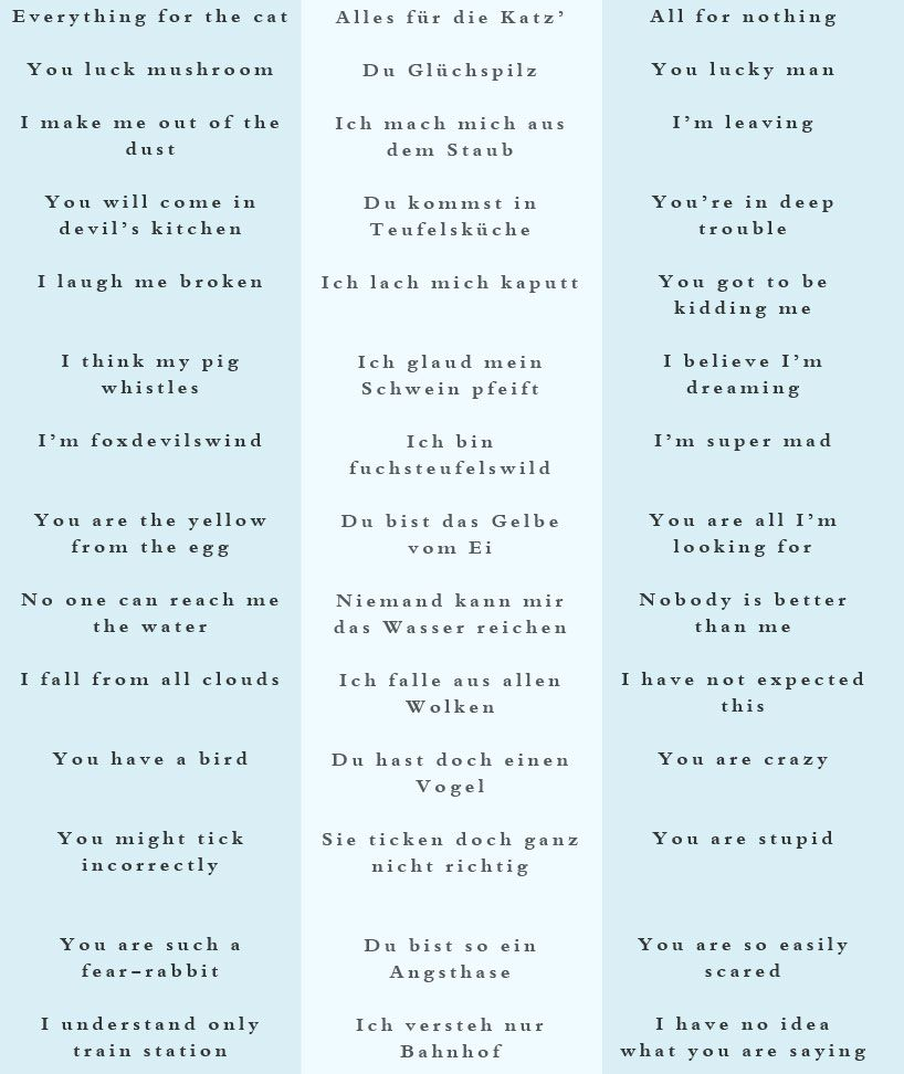German flirting phrases