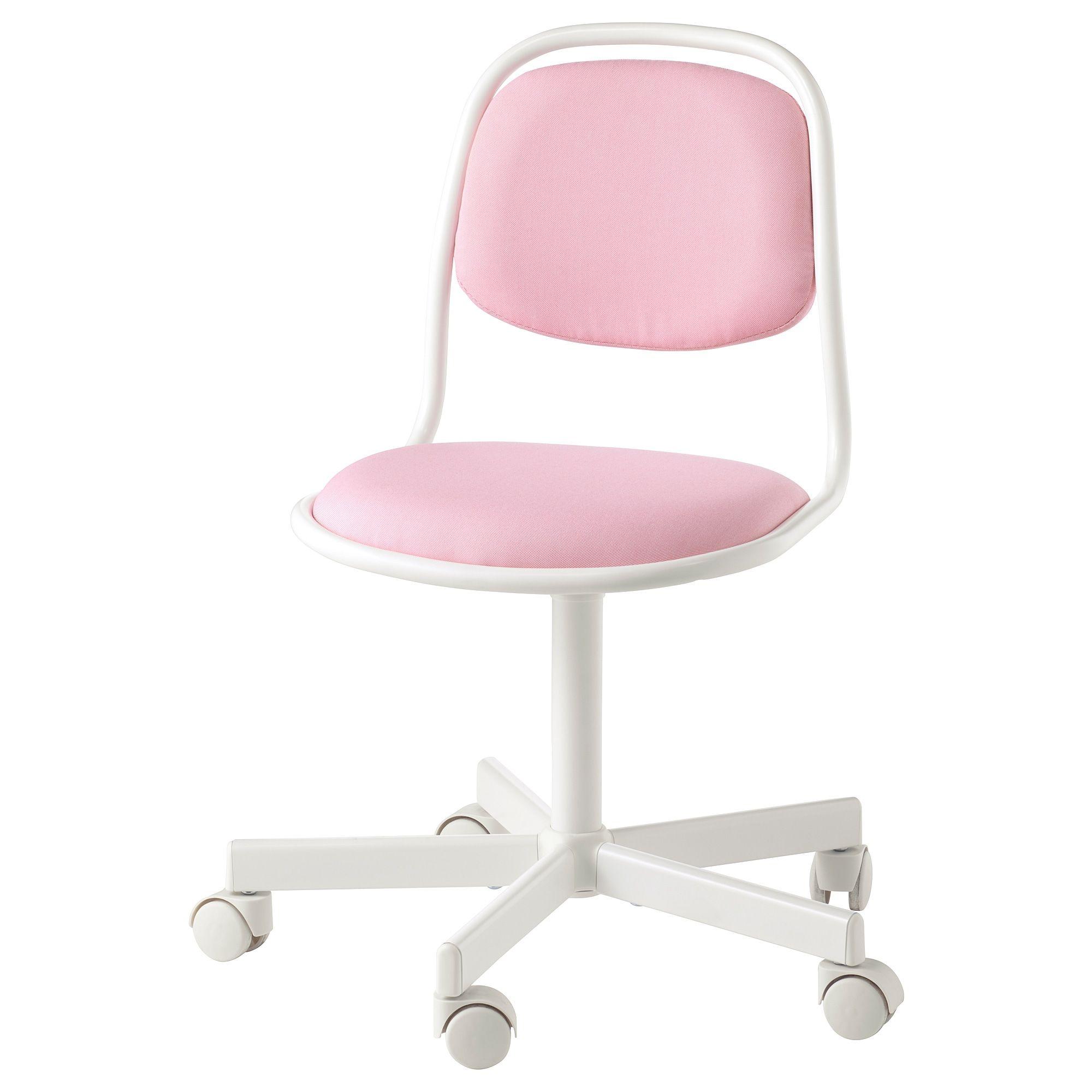 ÖRFJÄLL Child's desk chair white, Vissle pink