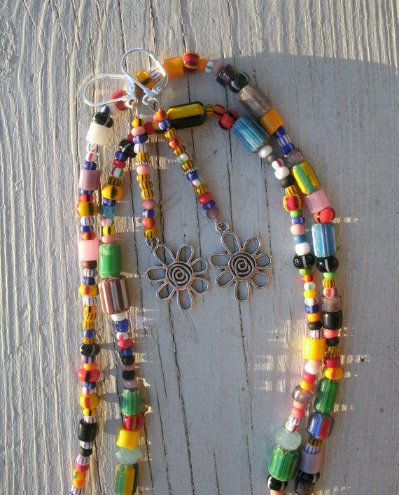 Boho/Gypsy/Hippie Mixed jewelry set   by KrystalKlarityBeads