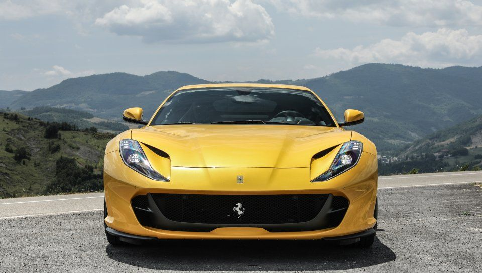 Yellow Sports Car Ferrari 812 Superfast Wallpaper With Images