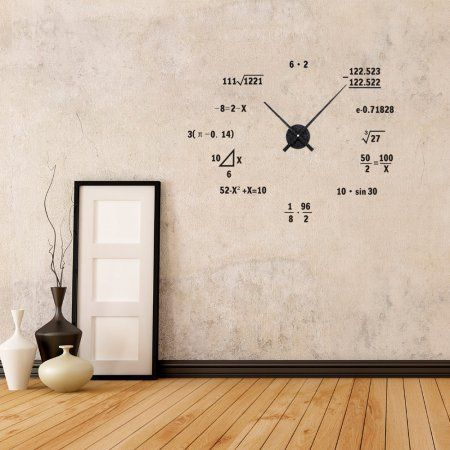 Math Formula Geometry Unique Vinyln Wall Decor Clock Funny Sticker