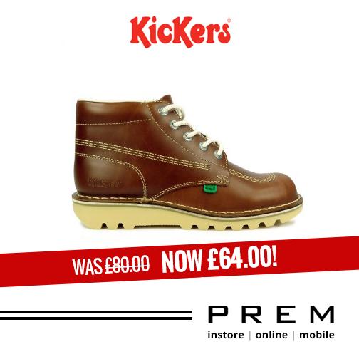 Mens Kickers Boots Kick Hi Leather Dark Tan Boots http://menswearshop.co