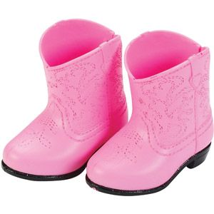 730cf61d26f45 My Life As Pink Cowboy Boots Doll Shoes | Kelly Neal | American girl ...