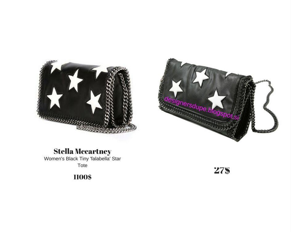 484608272729 DESIGNERS DUPE designersdupe.blogspot.si Stella McCartney Falabella  Embossed Clutch White Stars Black Die Mini Bag  fashion  fashionblog   styleblogger ...