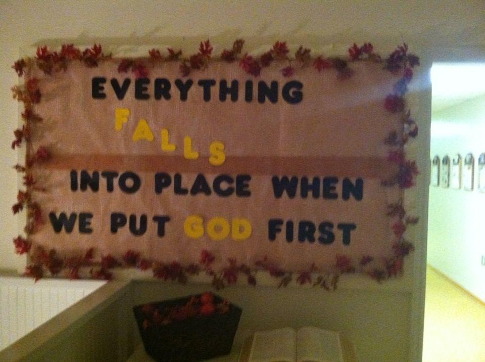 Our fall bulletin board at church !!