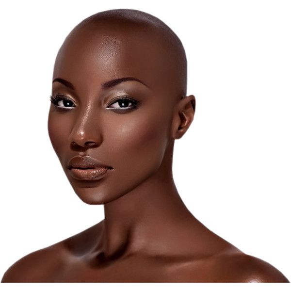 Black Woman Tubed By Thafs Png Liked On Polyvore Featuring Dolls Faces Doll Parts African And Be Beautiful Dark Skin Bald Head Women Beautiful Black Women