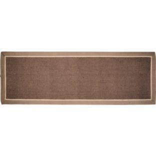 buy jute floor runner rug with border 200x66cm natural at. Black Bedroom Furniture Sets. Home Design Ideas