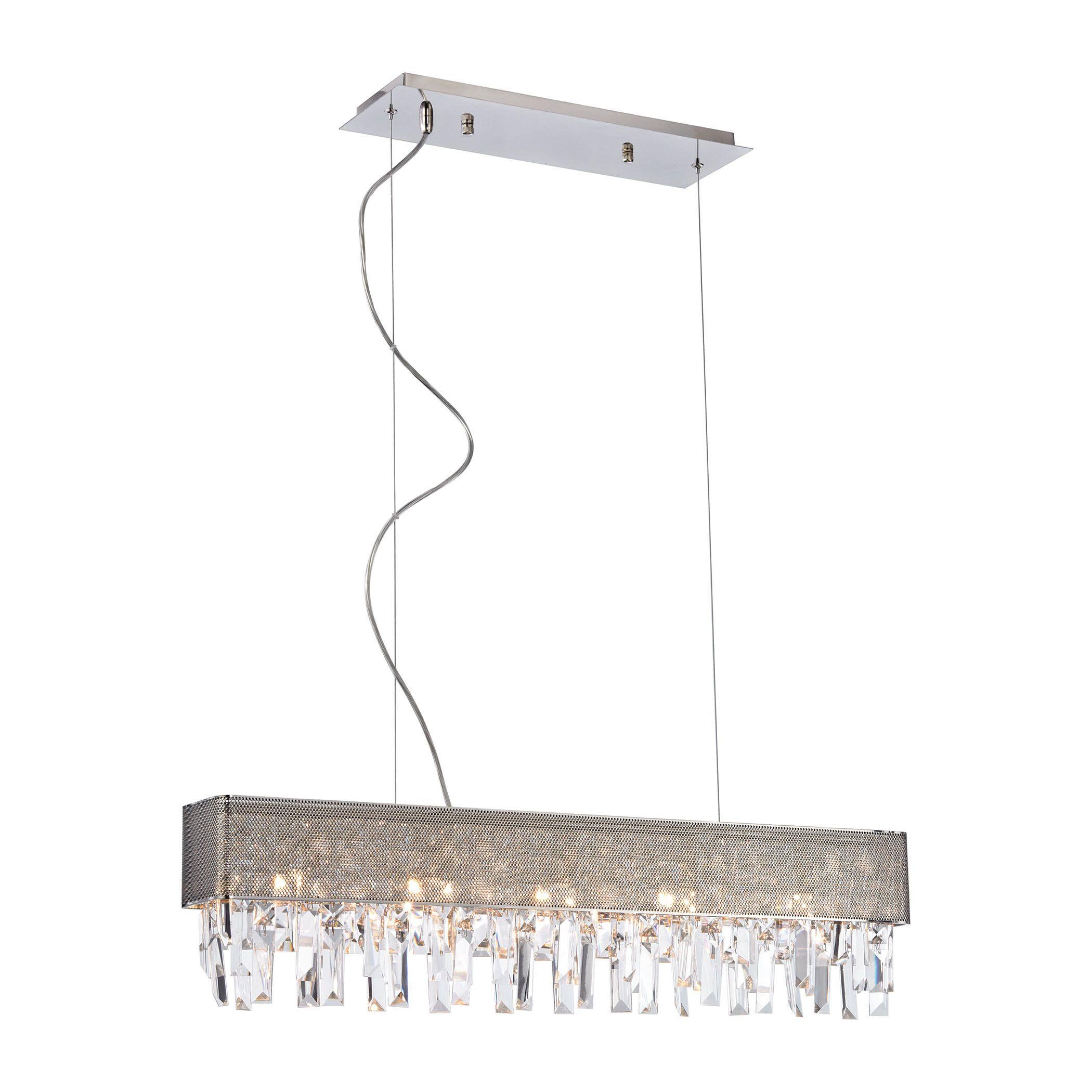 Elk valance 5 light led chandelier in polished products elk valance 5 light led chandelier in polished arubaitofo Image collections