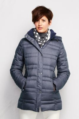 96f61a29d Women's Heathered Down Parka from Lands' End   we liked the same ...