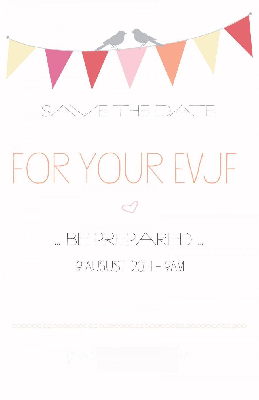 save the date invitation evjf modele