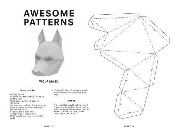 Halloween Paper Toys Printable Google Zoeken Masken Vorlage Papiermaske Papier Tiere