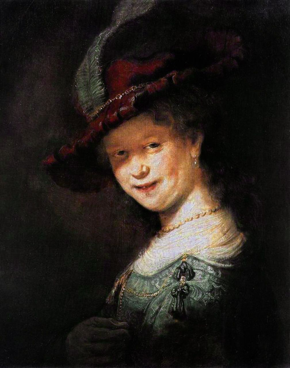 Rembrandt - Portrait of the Young Saskia, 1633
