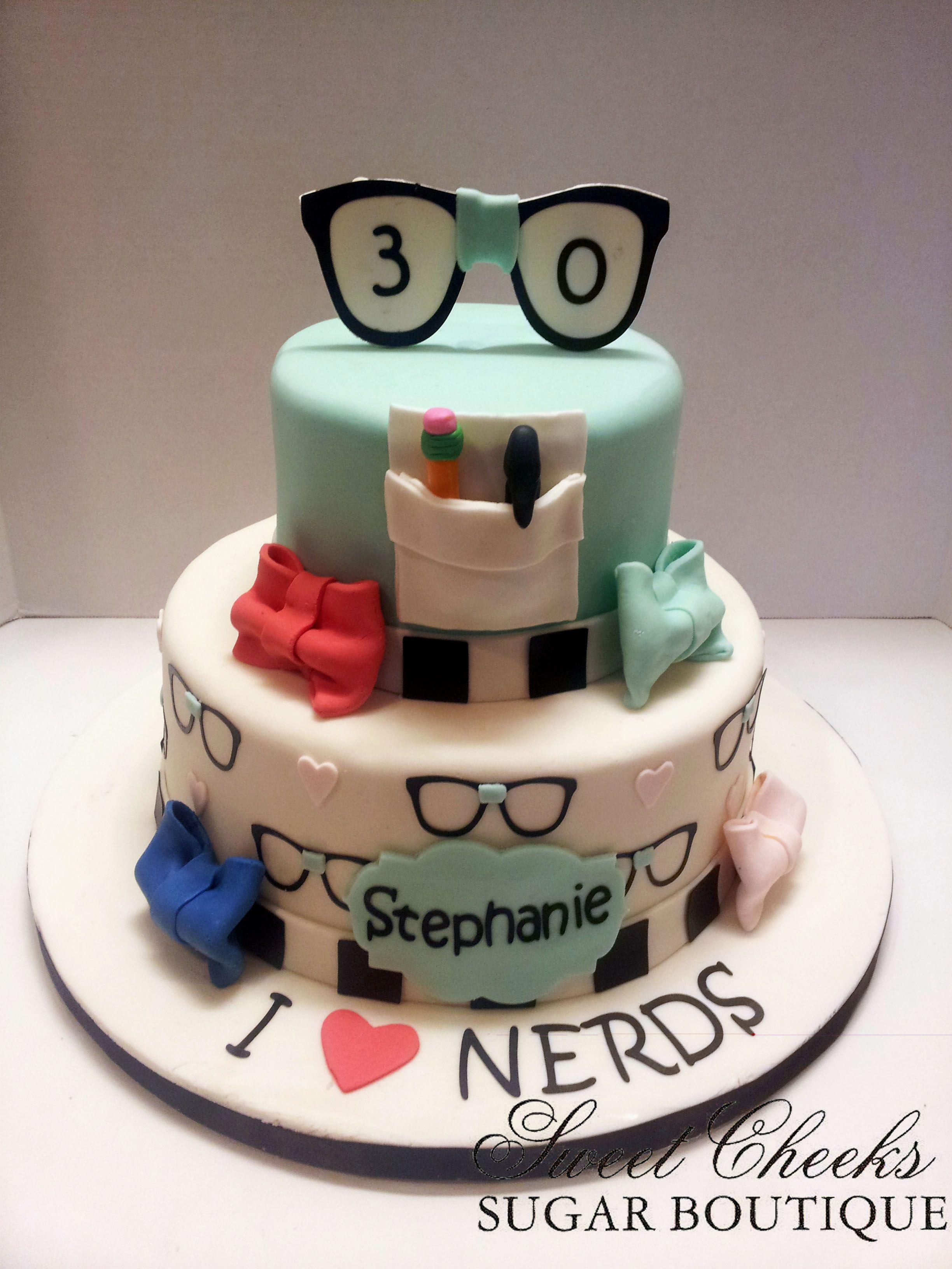 A Nerdy Thirty Themed Birthday Cake Candy Birthday Cakes