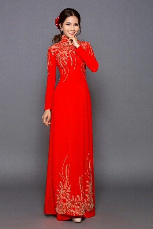 Top 10 Mẫu áo Dài Cưới Màu đỏ đơn Giản Mà đẹp Chưa Bao Giờ