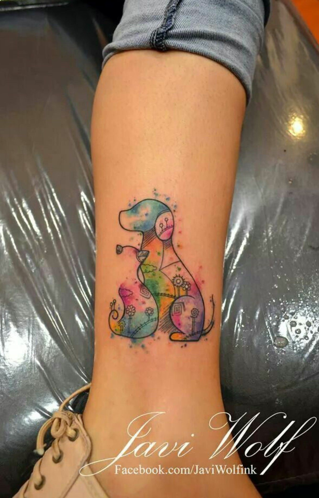 Pin By Sally Robbins On Tattoos Tattoos Dog Tattoos Silhouette
