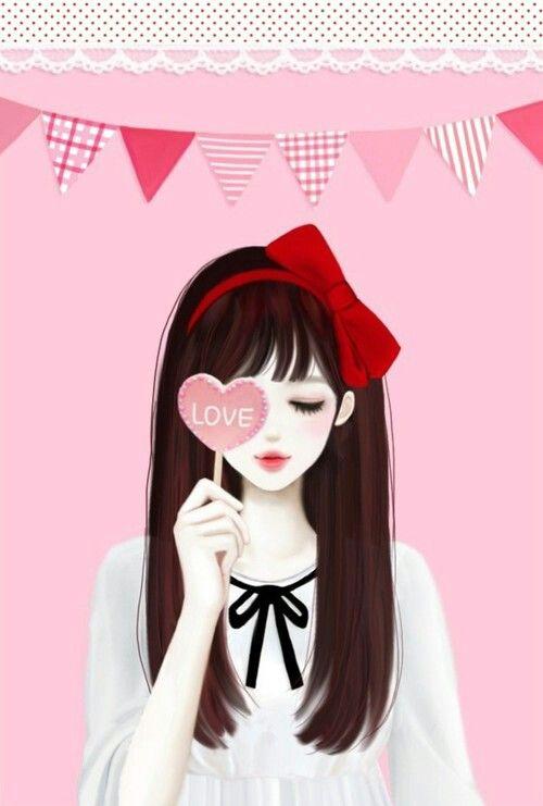 Buotiful Korean Anime Cartoon Girl Images Cute Cartoon Girl Cute Girl Drawing