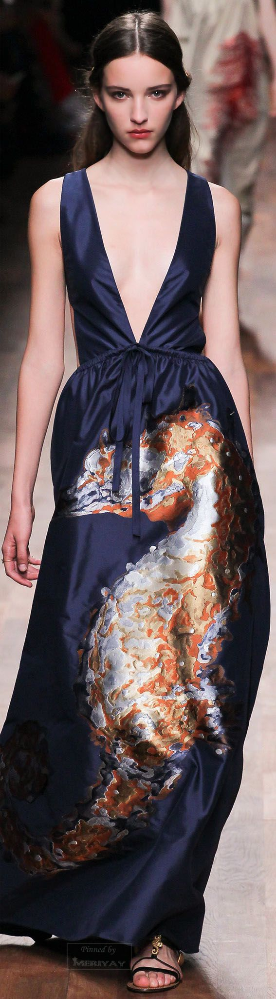 The delicate evening dresses by Italian brand VALENTINO, Spring 2015.