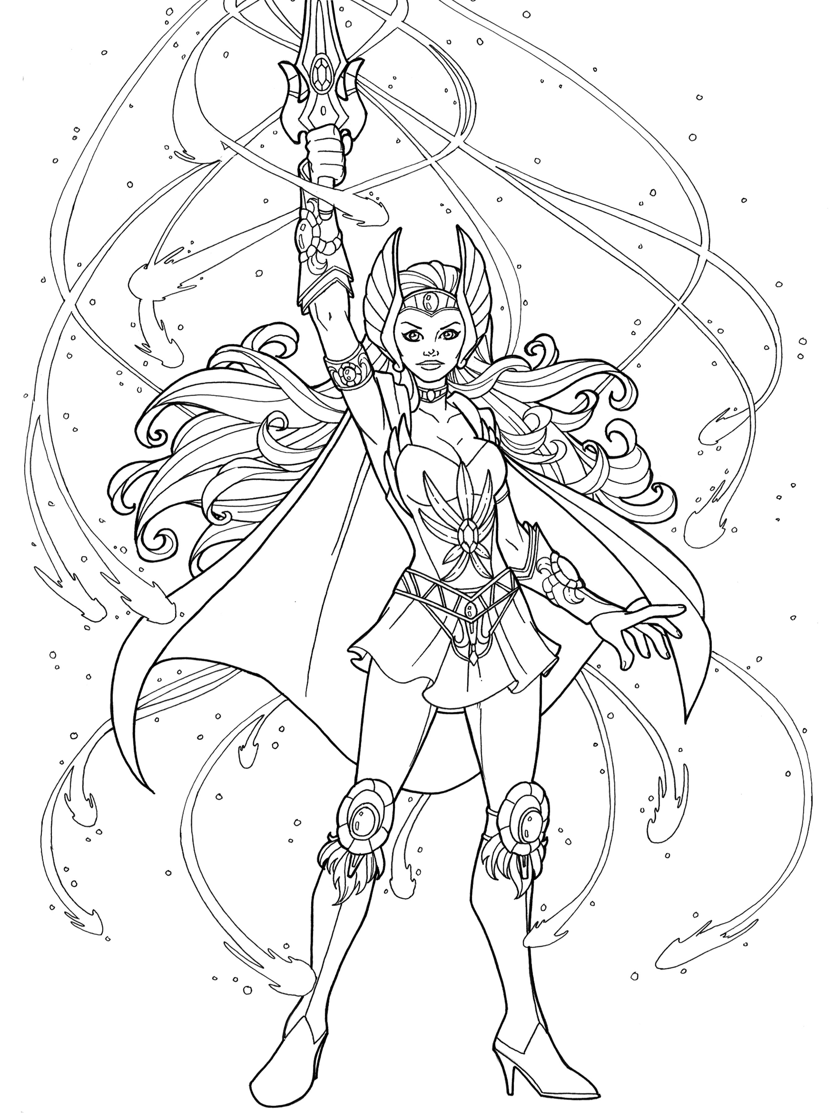 She Ra To Save The Day Coloring Pages For Girls Sheets Adult
