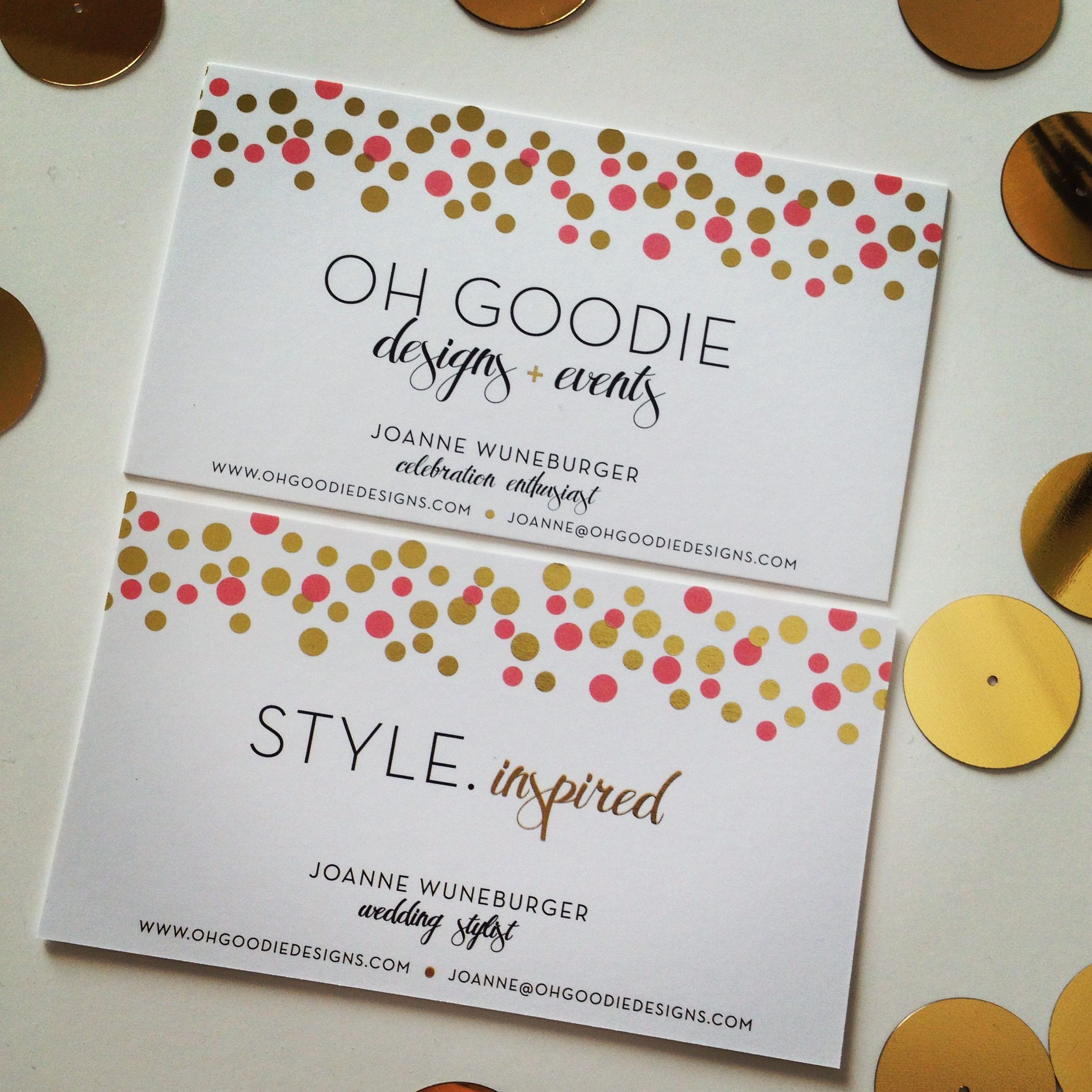 business cards double sided by harper gray gold metallic with