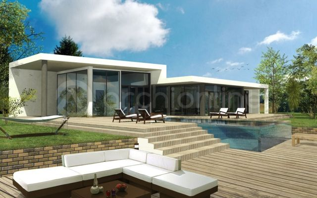Maison contemporaine plain pied MAX Future house, Modern and House