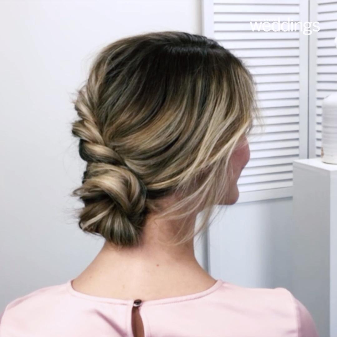 Peinado de boda: trenza de doble lado