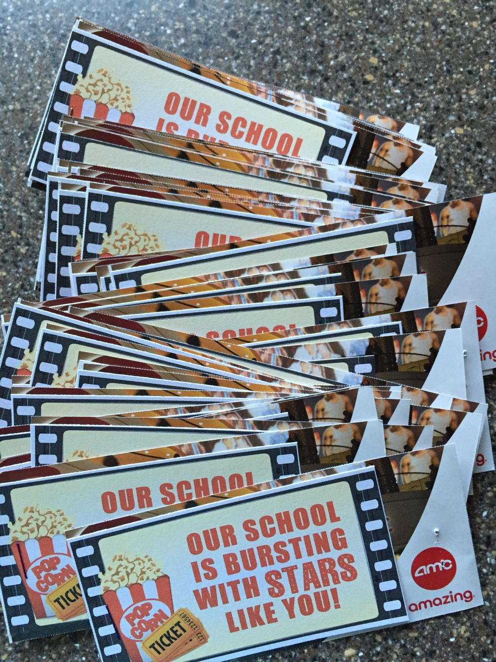 Movie Ticket gift to the staff from PTO Red carpet