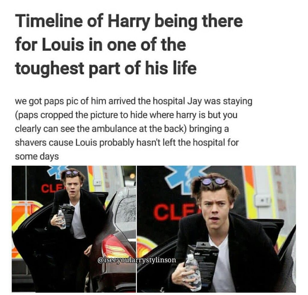 Photo of More proof that Harry was there was Louis 100% when Jay passed away. Shane the p…