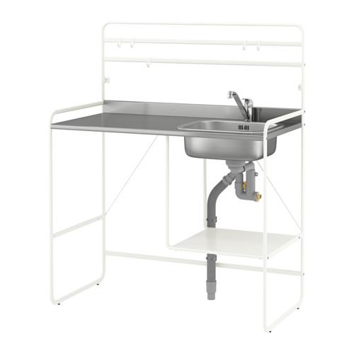 Sunnersta mini kitchen as a mini outdoor sink  sc 1 st  Pinterest & Mini outdoor sink from IKEA trolley and sink | diy | Ikea kitchen ...