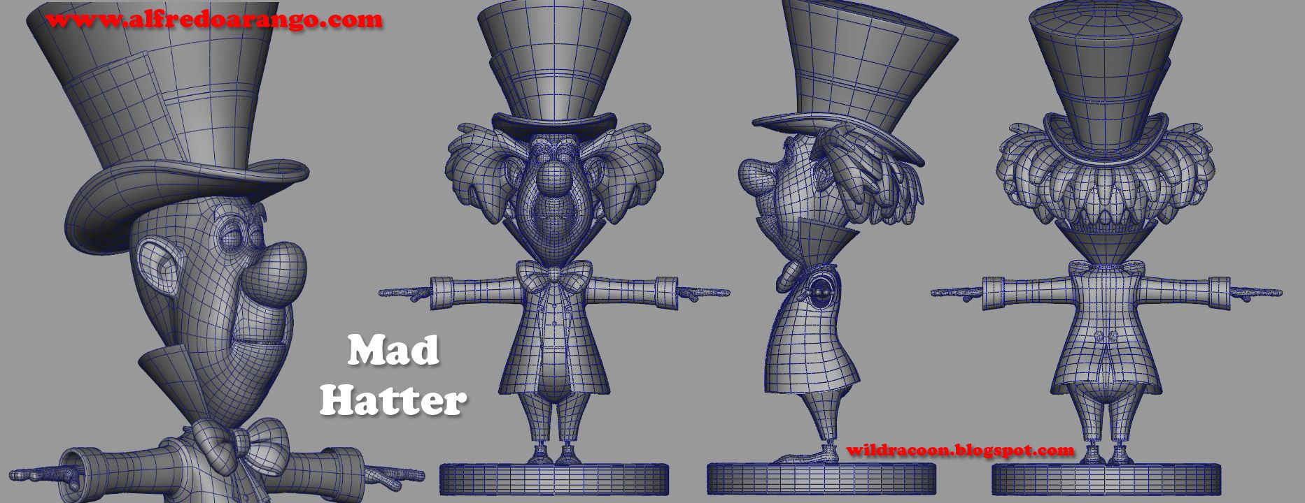 3D Cartoon Character Wireframe