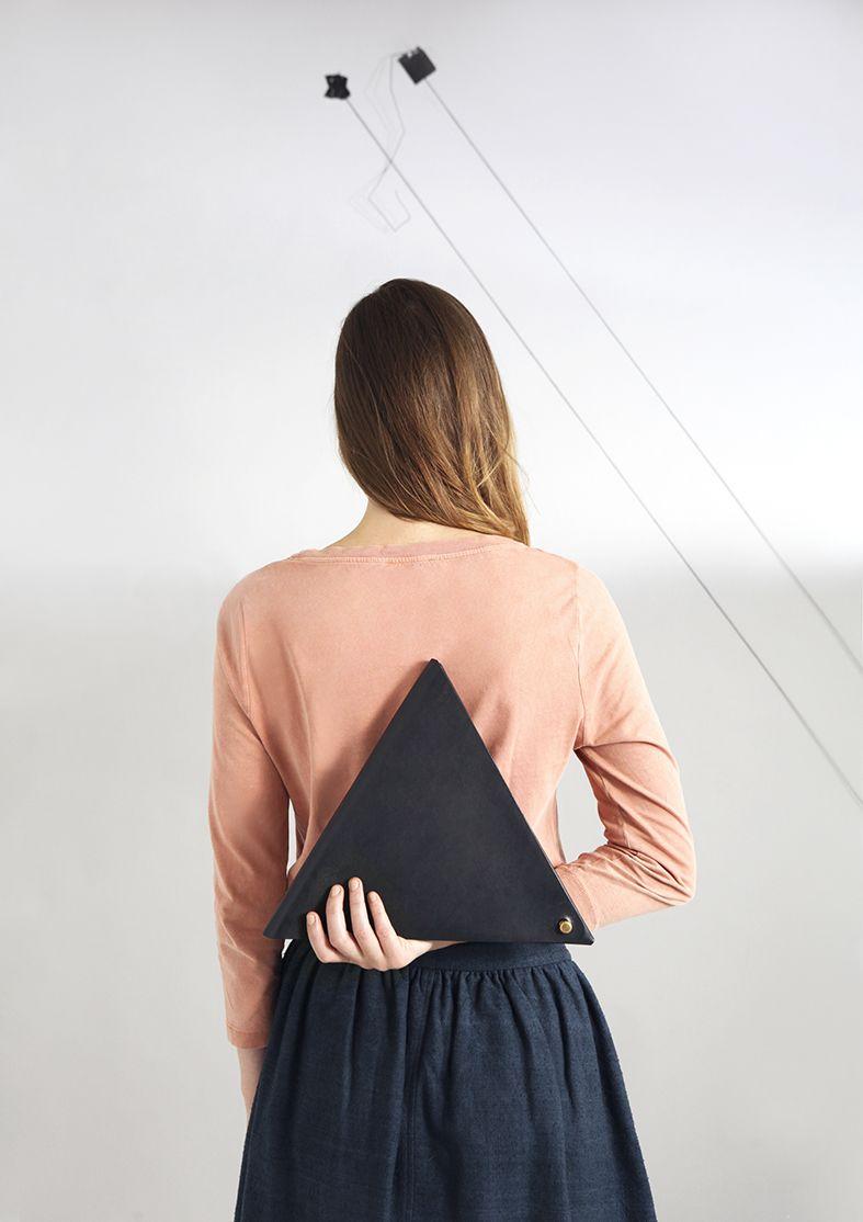 M.Hulot Bronica triangle clutch bag.