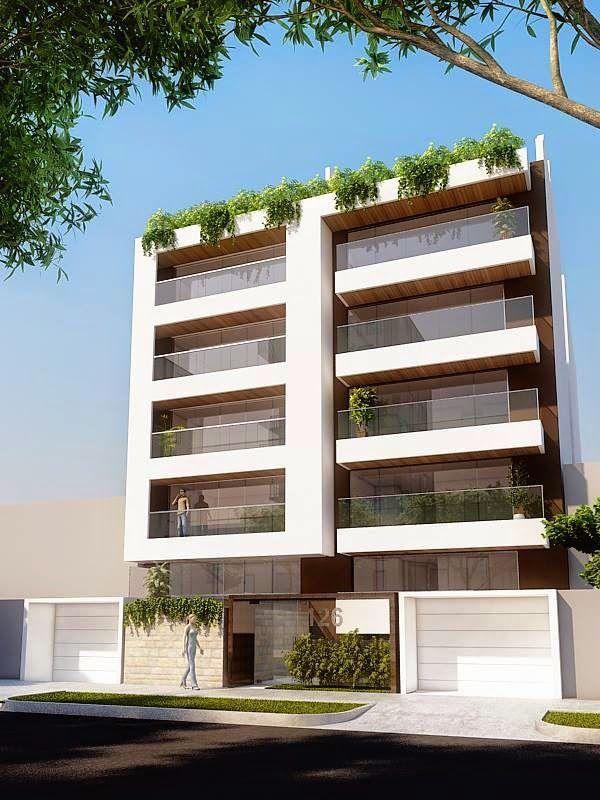 Fachadas de edificios de departamentos apartment for Casa minimalista barcelona capital