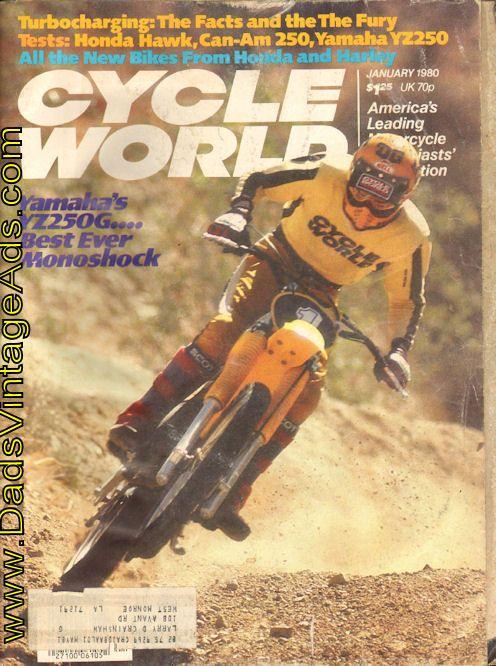 1980 January Cycle World Motorcycle Magazine Back Issue Yamaha
