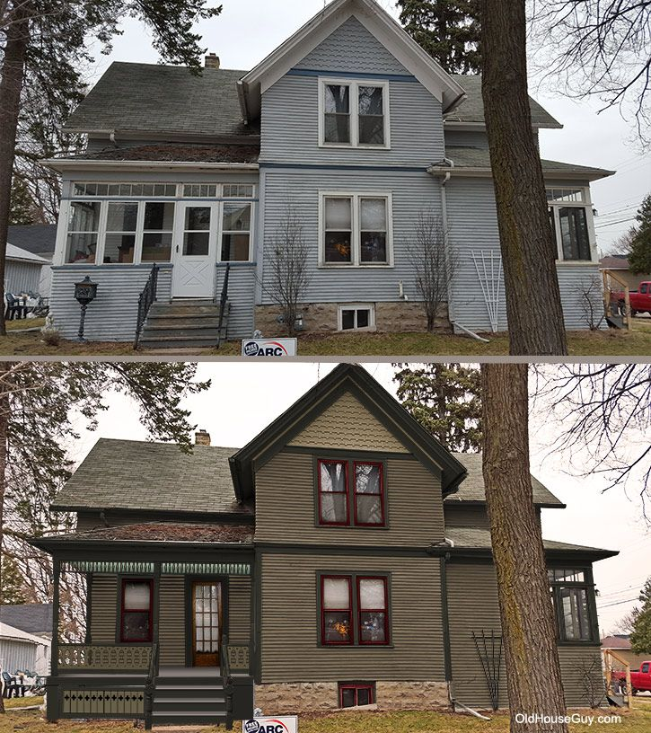Historic Victorian Paint Colors And A Reopening Of The Porch Using Sawn Baers Deco House Exterior Color Schemes