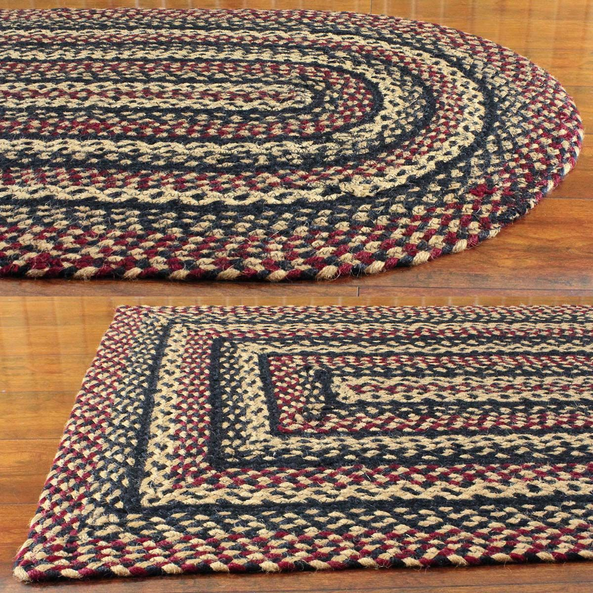 Check out the deal on Blackberry Jute Braided Rugs at Primitive Home Decors
