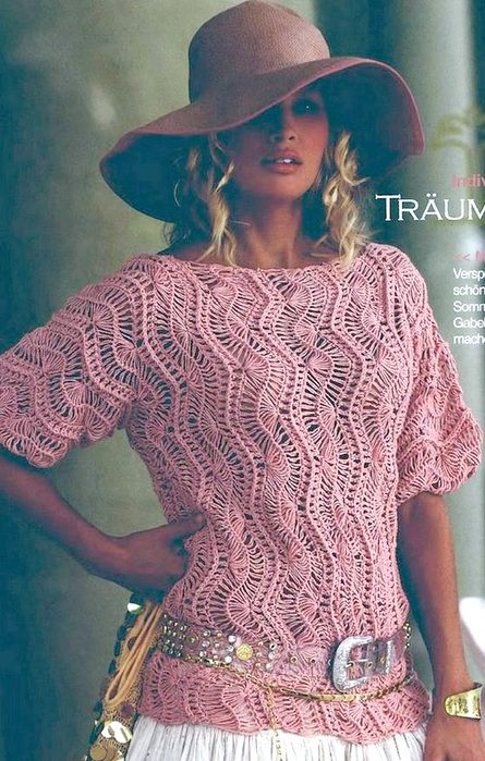 Crochet Sweater Pattern In German Crochet Clothing Pinterest