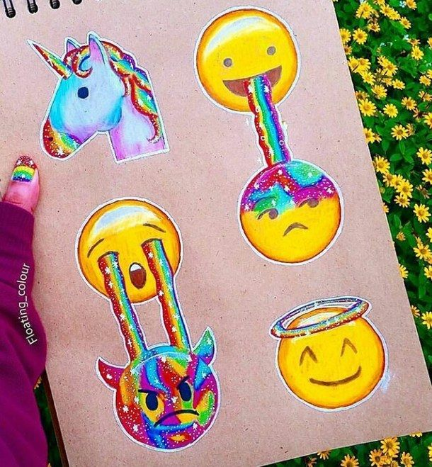 It's just a graphic of Obsessed Unicorn Emoji Drawing